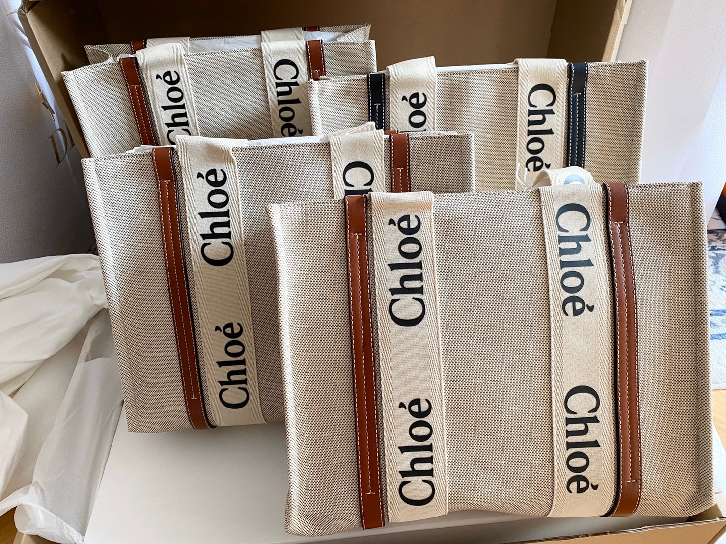 現貨預購本人親自拍攝勿盜圖 Chloe woody tote托特包