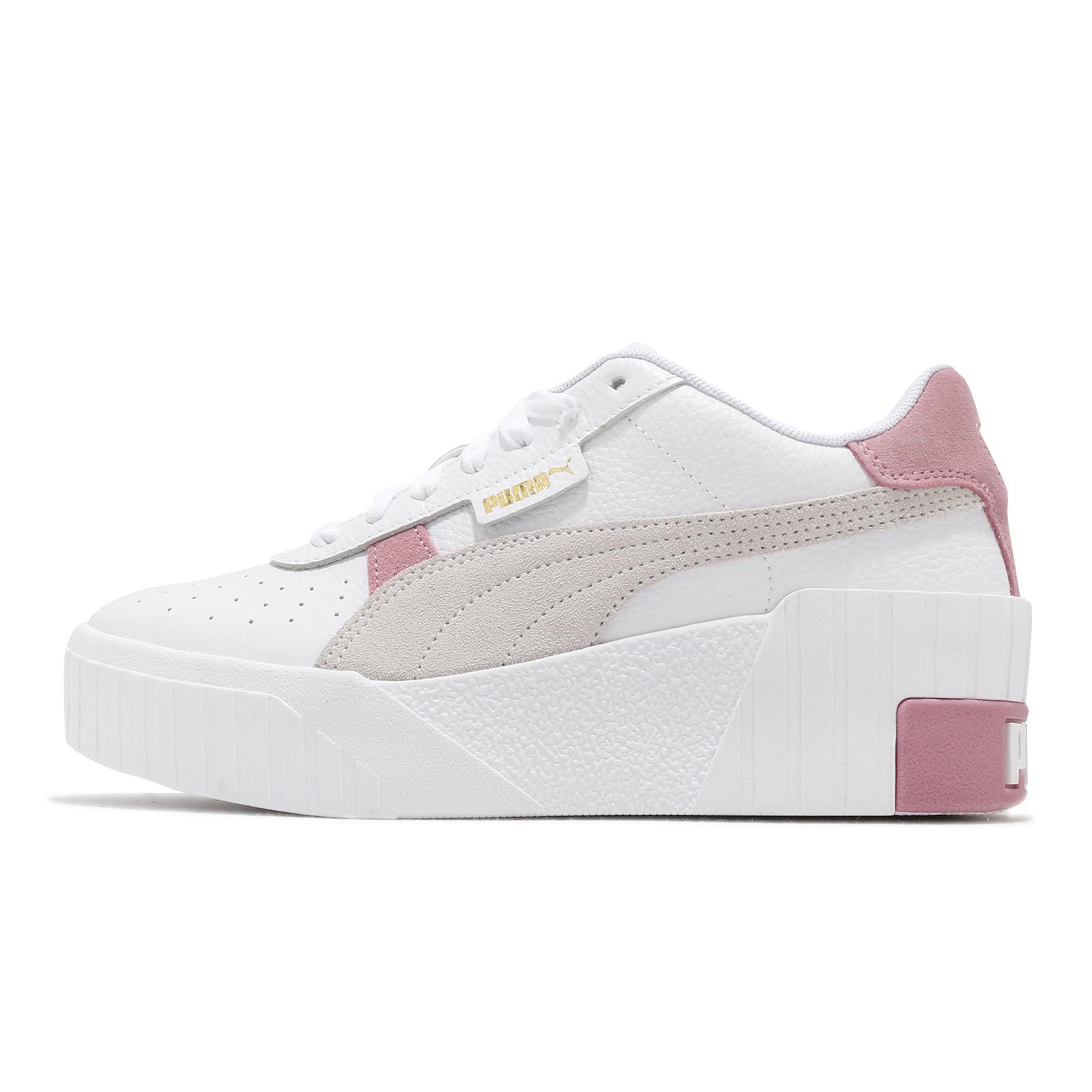 Puma 休閒鞋 Cali Wedge Mix 白 粉紅 女鞋 增高 厚底 皮革 運動鞋 【ACS】 37390602