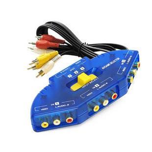 AV影音訊號切換器 wii xbox 360 ps2 ps3 遊戲機 訊號切換器 切換器 分配器 擴充器