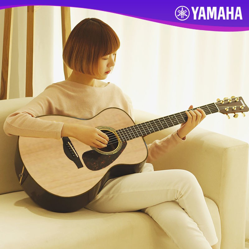 YAMAHA雅馬哈f310民謠木吉他初學者入門學生男女41寸f600.F370拿火電子吉他