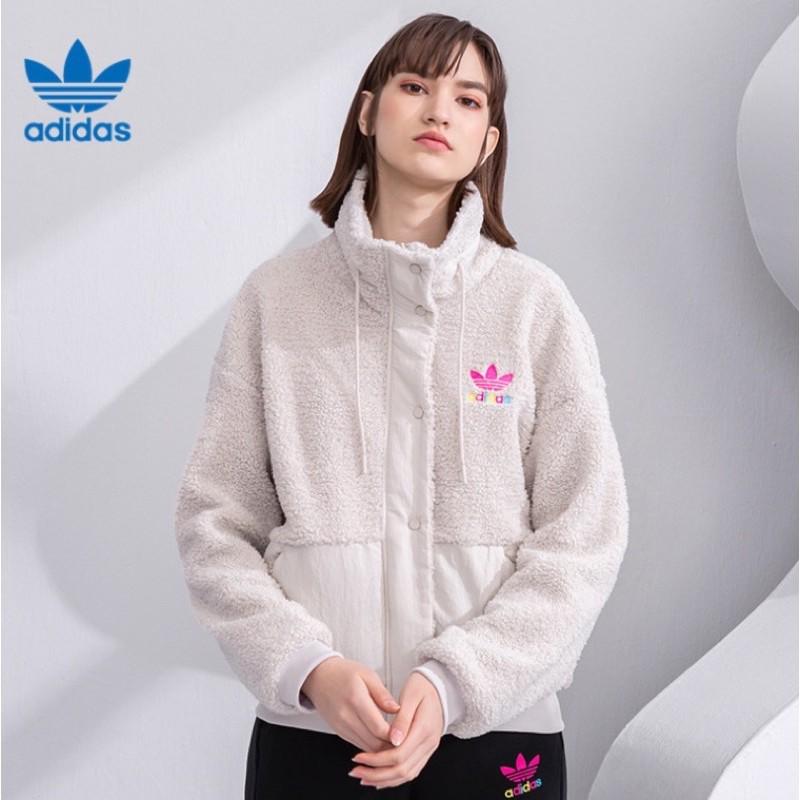 Adidas 愛迪達 女款 白色 羊毛 外套 款號 : GV2933