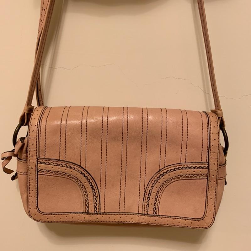 Anna sui粉色皮革側背包、小包
