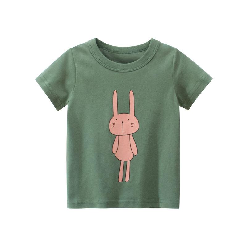 韓版童裝 女童t恤純棉兒童短袖T恤新款女寶寶衣服