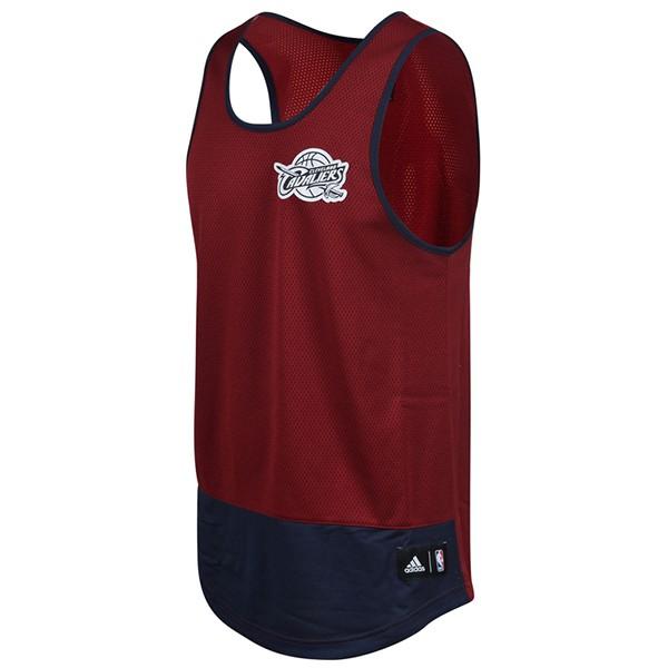 ADIDAS【AO2152】籃球背心 球衣 練習衣 排汗 網洞 NBA騎士隊 酒紅深藍