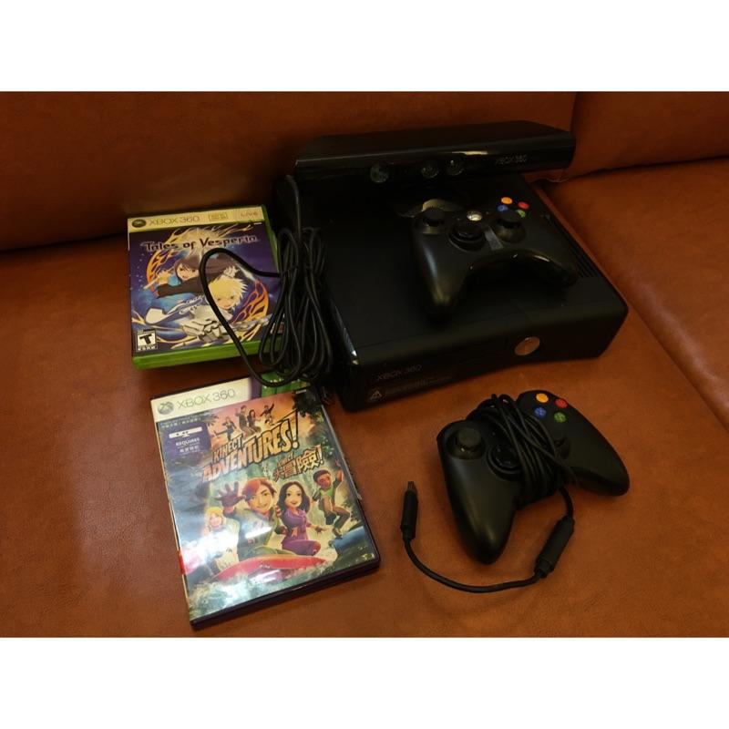 二手xbox360 Kinect 250Gb以改機大全配+遊戲