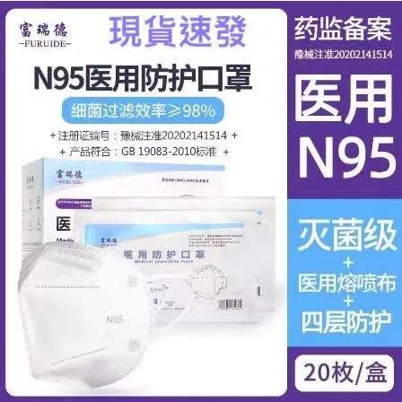 【現貨】醫用N95防護口罩無菌醫療級防飛沫防疫醫生抗病毒獨立包裝
