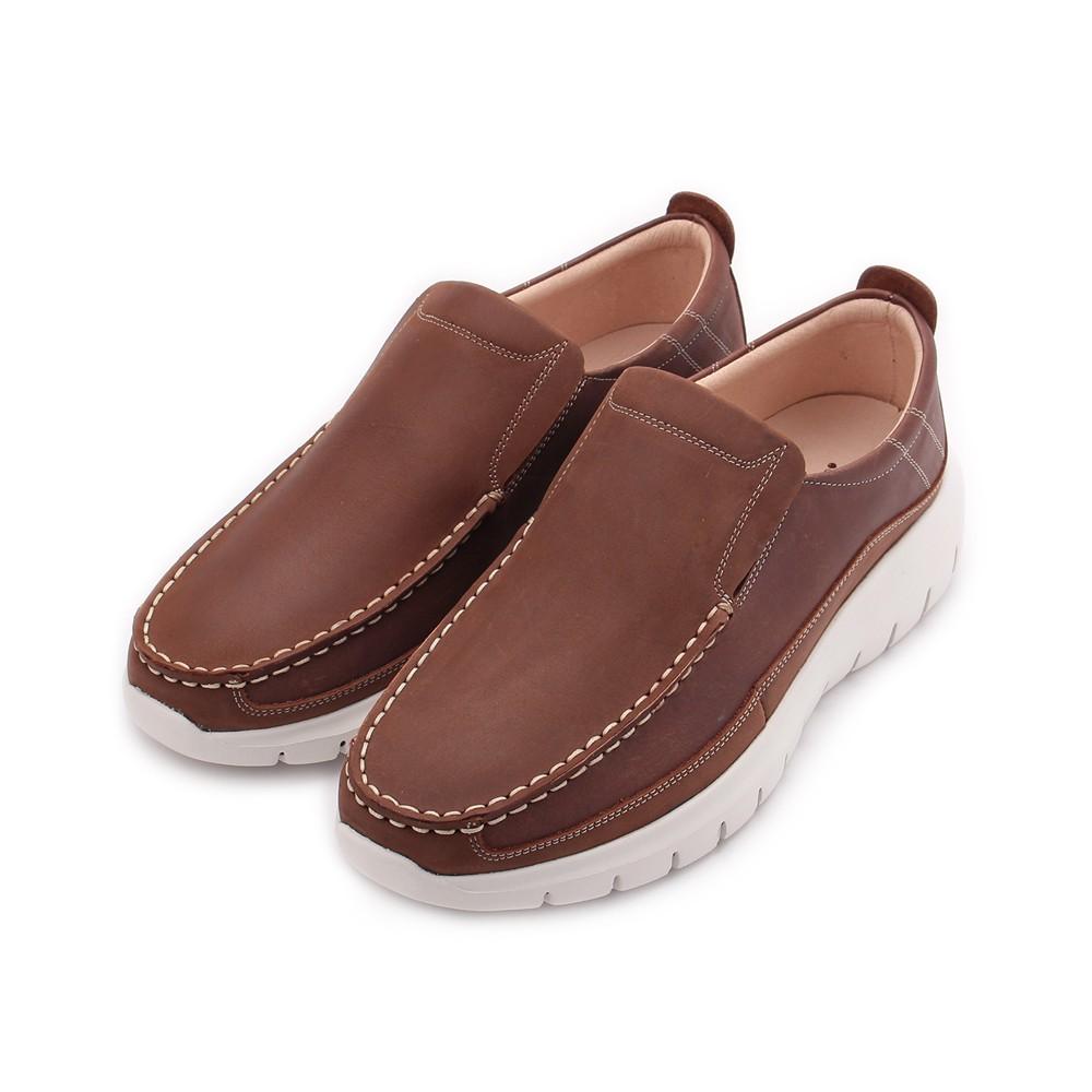 TANGO 真皮縫線套式休閒鞋 咖 9213 男鞋 鞋全家福