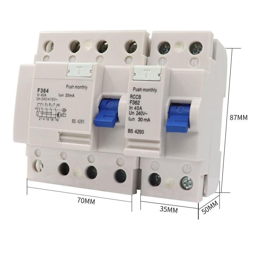 漏電保護器F364 高分段RCCB Leakage circuit breaker國際漏電斷路器