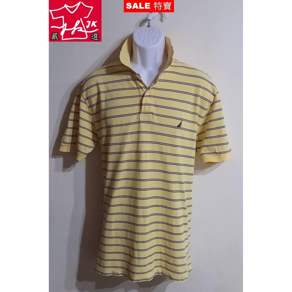 本周特價-美國 Nautica 短袖 POLO衫 條紋款-男款-L【JK嚴選】太陽的後裔