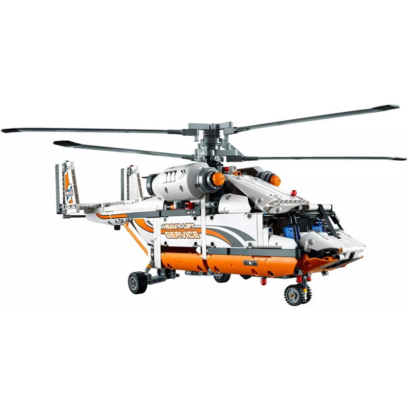 新LEGO樂高積木科技機械組系列重型運輸直升機42052帶電機拼裝玩具