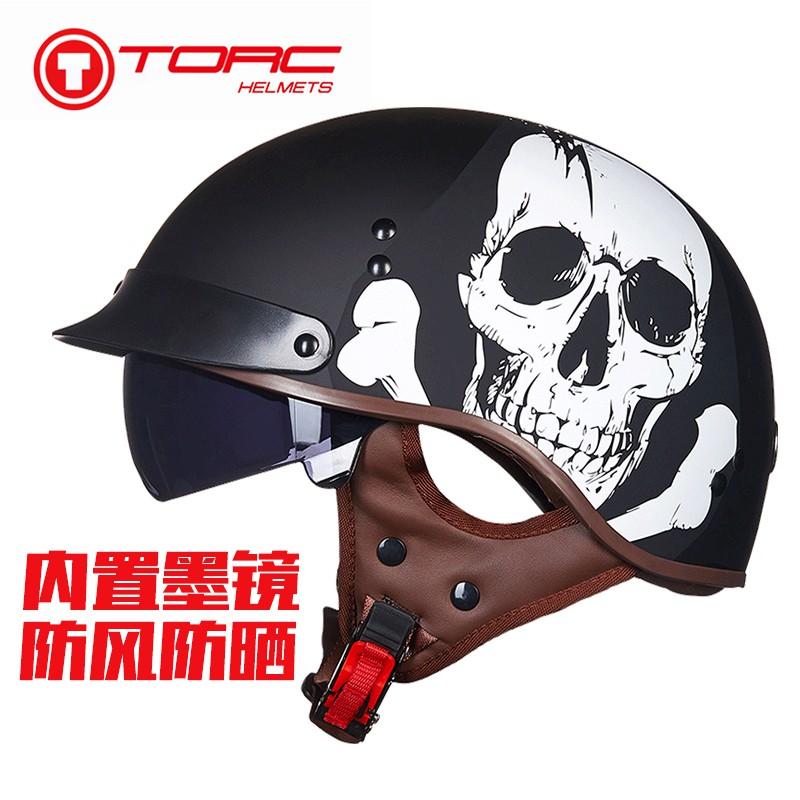 【大雄】TORC復古機車頭盔男摩托車半盔覆式夏季女電動車輕便安全帽個性酷