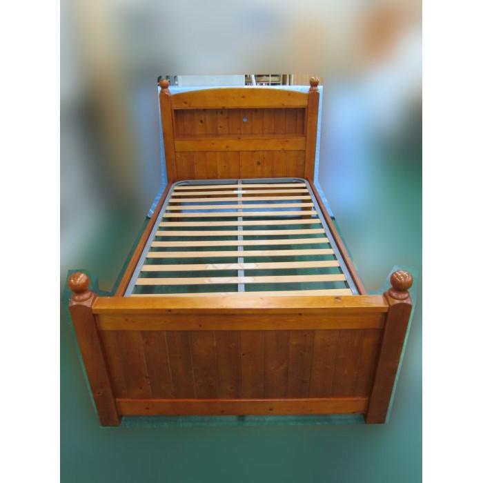 【二手家具】台中百豐悅2手買賣-二手松木單人加大三尺半床架 單人床組床台床頭 3.5尺床架 台中西屯南屯二手傢俱家電店