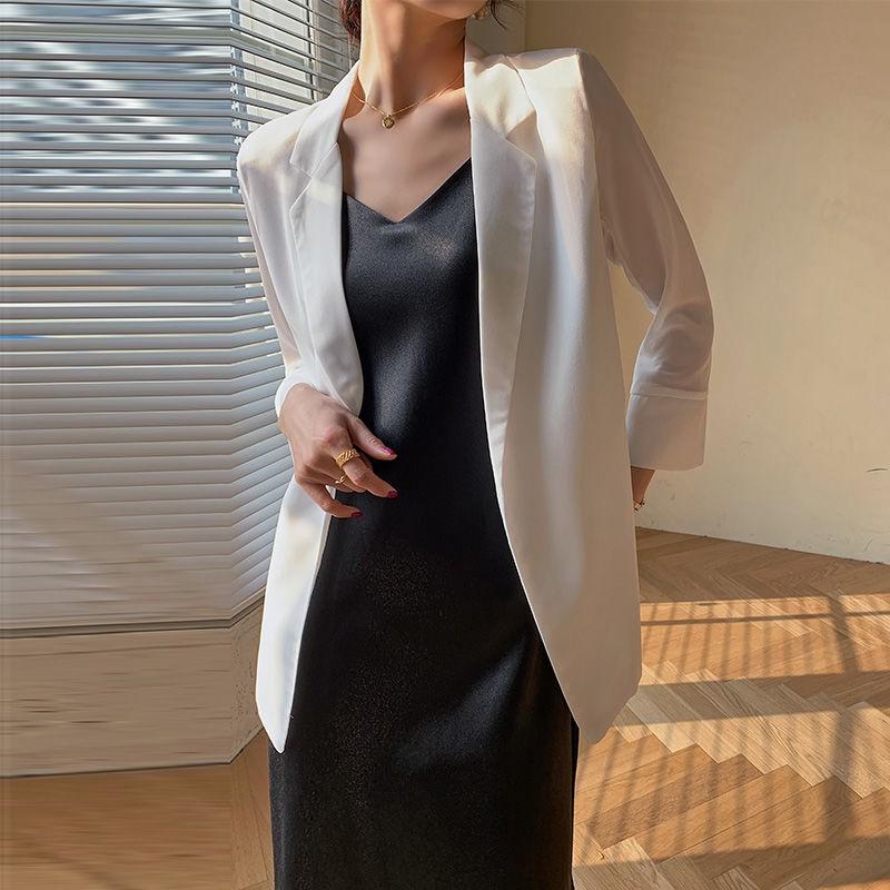 薄款韓版寬鬆雪紡小西裝女網紅爆款外套開衫防曬衣空調衫