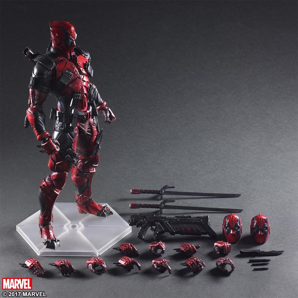 Play Arts改 英雄 pa改賤賤死侍 Deadpool 可動手辦模型擺件