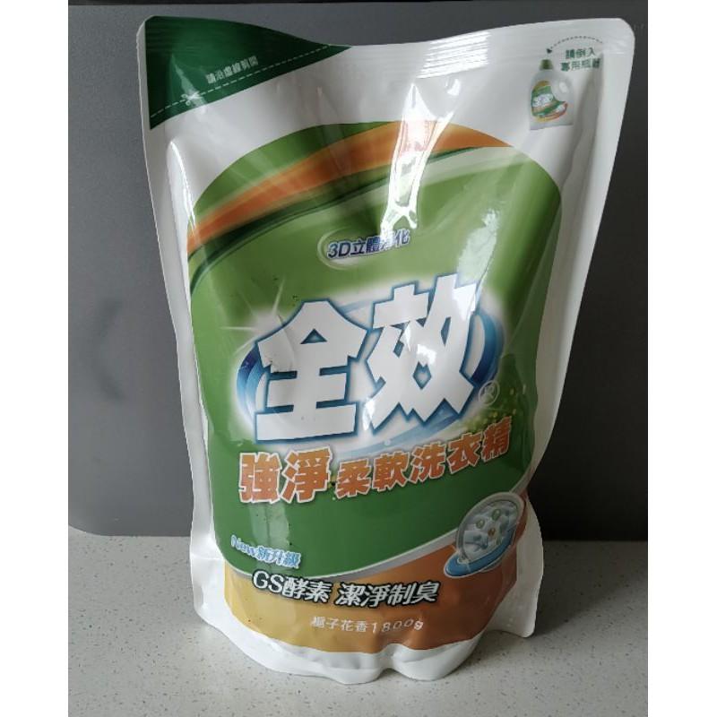 毛寶全效強淨柔軟洗衣精(梔子花香)1800g