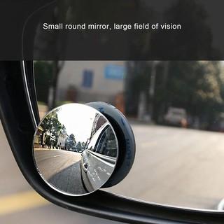一對 無邊小圓鏡 汽車高清盲點鏡 凸面玻璃鏡 360度旋轉倒車輔助後視鏡