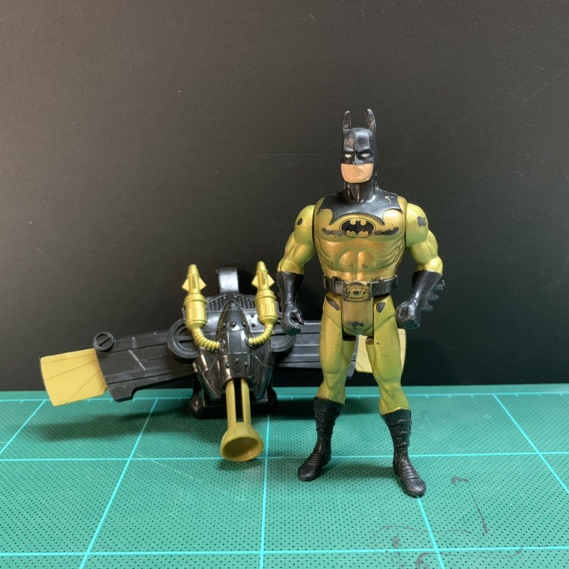 1990 Kenner 蝙蝠俠 (有損)金衣 飛行後背包 Batman DC