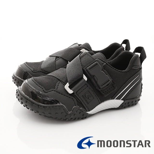 日本月星Moonstar機能童鞋 Carrot系列 速乾腳踏車鞋款 22156黑(中小童段)零碼