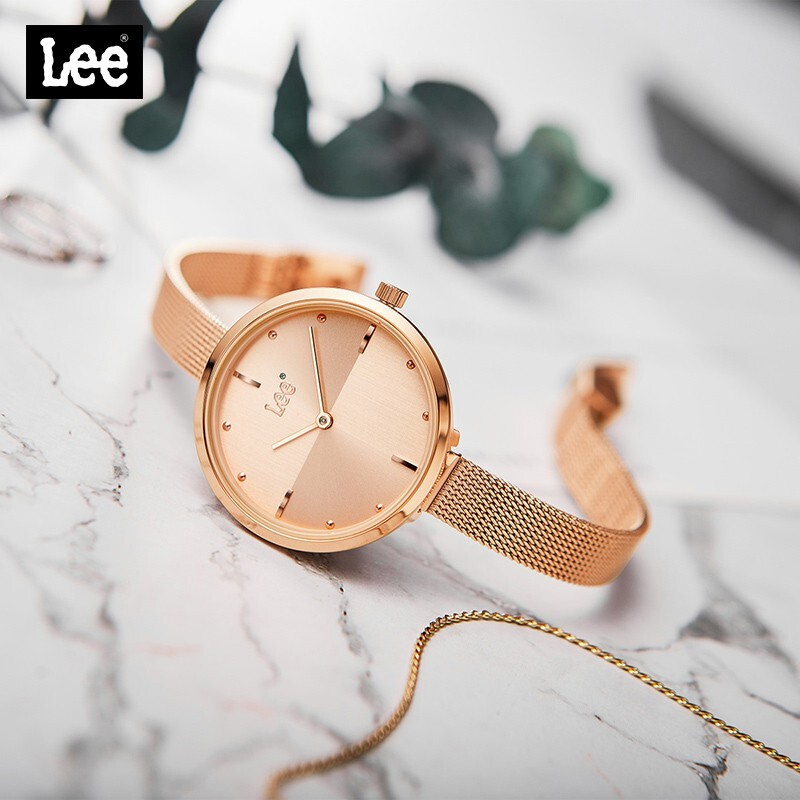 【台灣發貨-免運】LEE 手錶女時尚防水石英商務手錶女士腕錶 LEF-F202ARDR-RR