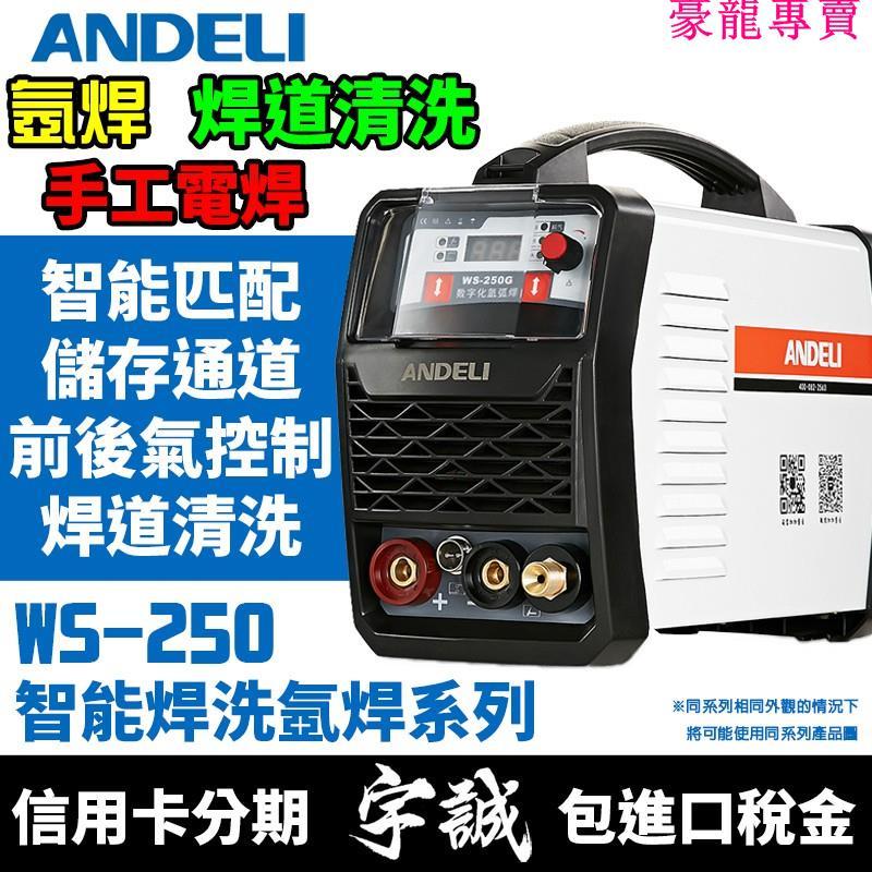 免運 ANDELI安德利WS-250G氬焊機TIG變頻式電焊機WS250雙用焊機220V氬弧焊機IGBT焊道清洗機三用