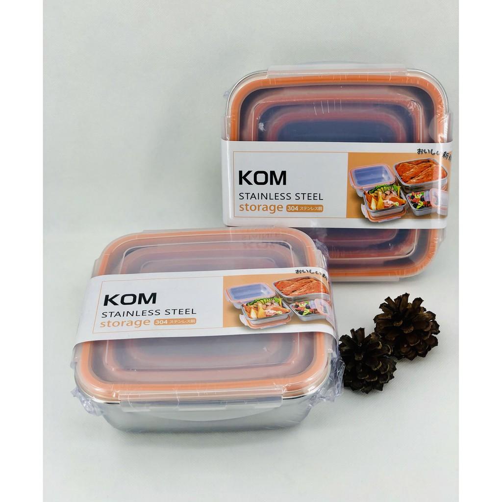 【KOM 】日式不鏽鋼保鮮盒三入組