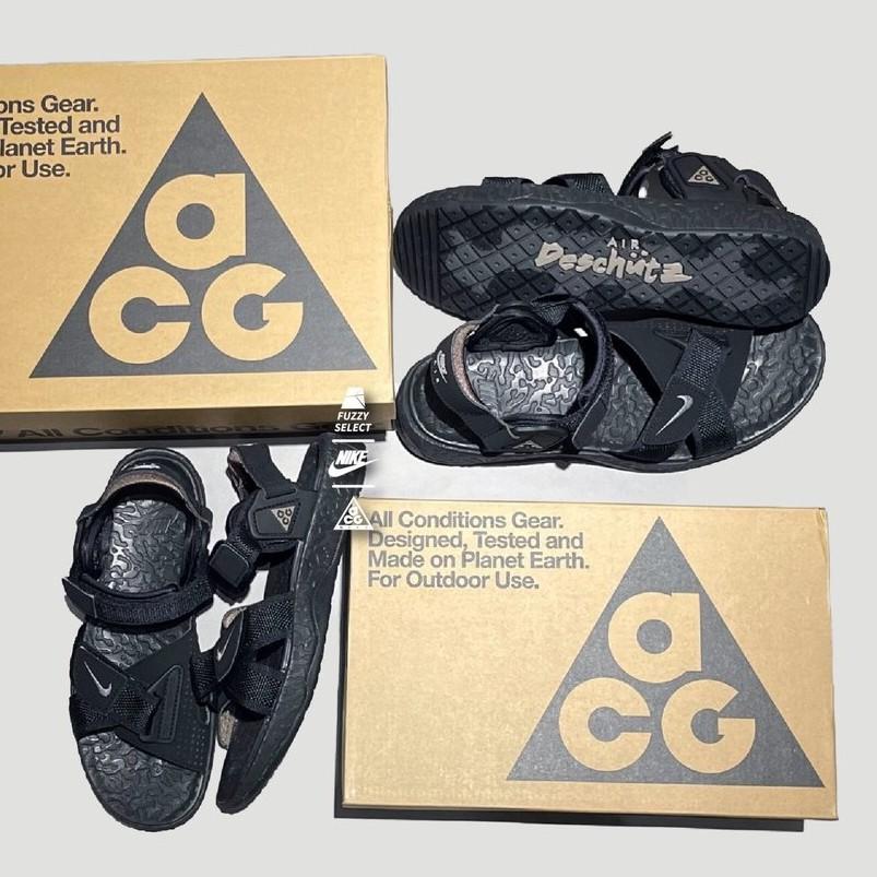 【環球代購】Nike ACG Air Deschutz 機能 魔鬼氈 涼鞋 防水 黑 DC9093-001