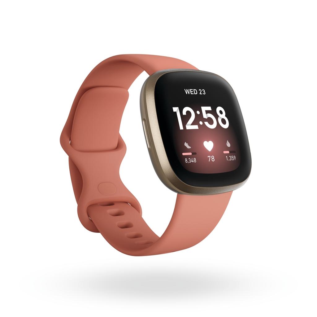 Fitbit Versa 3 一卡通運動智慧手錶 陶粉色