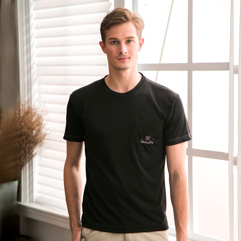 Valentino Rudy范倫鐵諾.路迪-透氣機能圓領T恤衫-黑 V08A243-99
