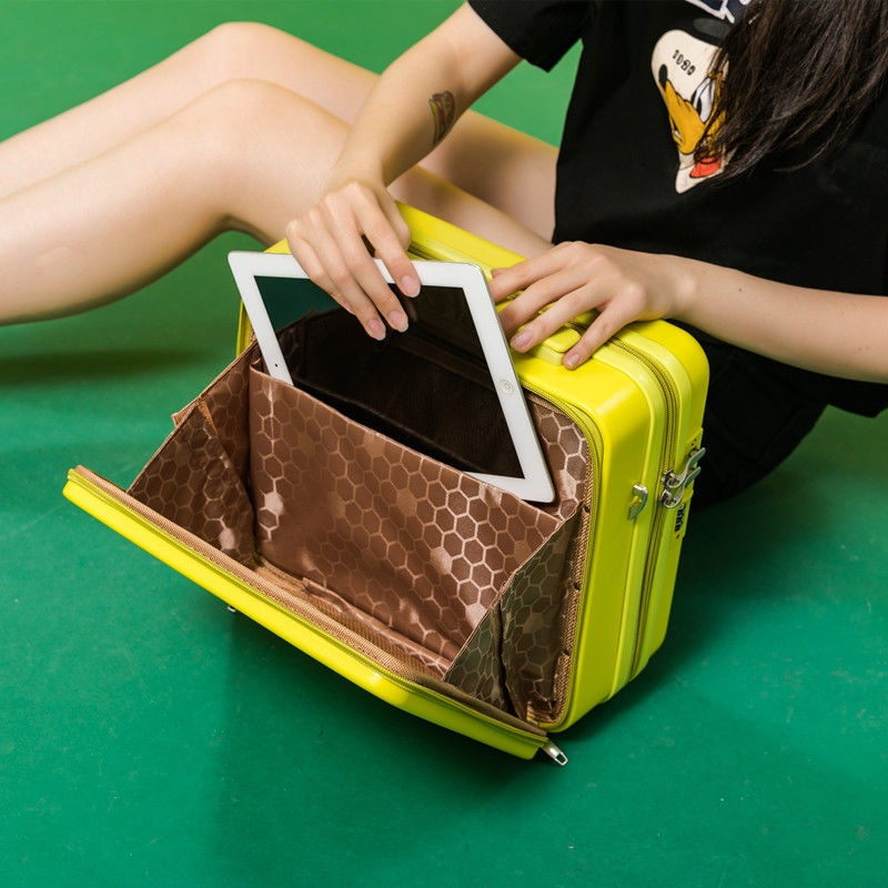 【LYB來一場說走就走的旅行】(手提行李箱)▼【霆馨·多隆】商務前開蓋電腦包手提箱15寸斜挎包化妝箱收納包女小旅行箱背包