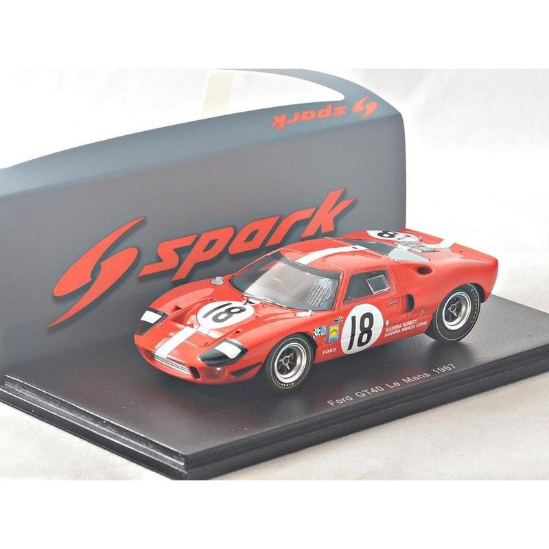吉華科技@Spark S5178 Ford GT40 No.18 Le Mans 1967 1/43 樹酯車