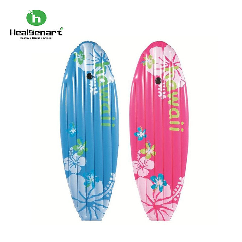 【Healgenart】夏威夷沖浪板 扶桑花 粉紅色 充氣 浮板 滑水板 浮排 限量促備