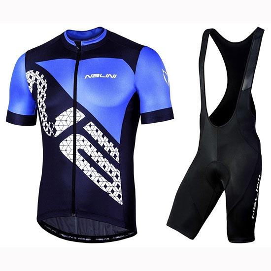 2件背帶褲套裝自行車騎行服夏季隊短袖速乾自行車上衣和短褲套裝nalini