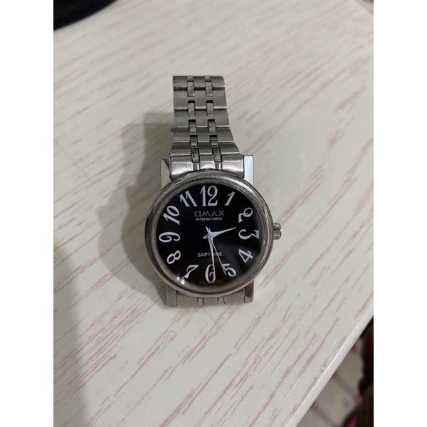 OMAX  石英錶 手錶 藍寶石防刮鏡面 不鏽鋼時尚錶帶 sapphire