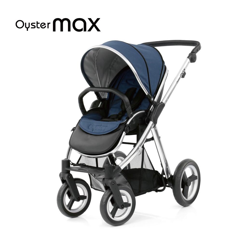 Babystyle Oyster Max英國雙向嬰兒手推車牛津藍/沉穩黑 小丁婦幼