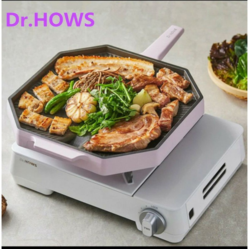 韓國進口 Dr.Hows 網美 夢幻 28cm 八角 烤盤 不沾 帶排油口 濾油