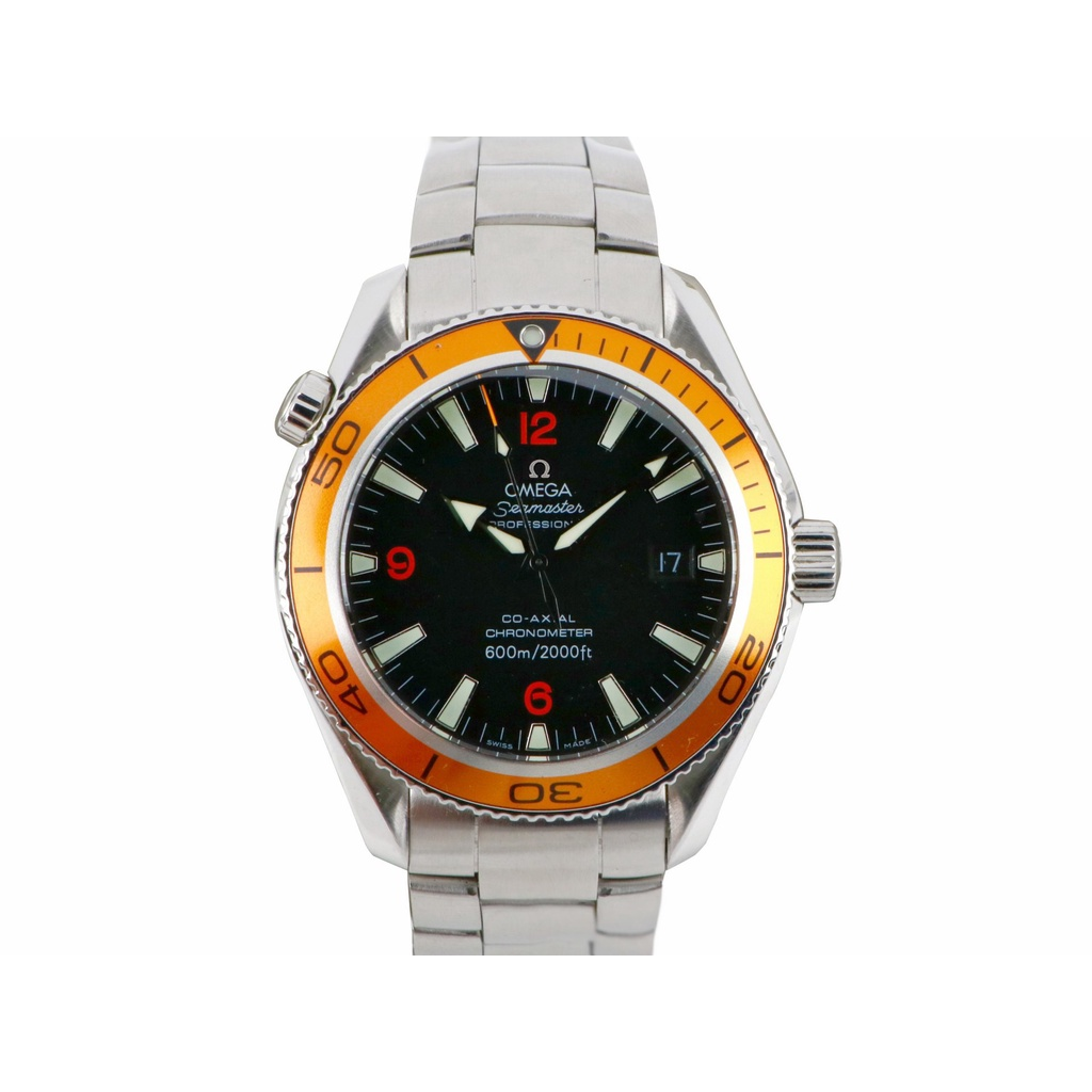 【久大御典品】OMEGA 歐米茄錶 海馬系列 機械男錶 42mm 保證原廠真品 橘圈 編號:J36005