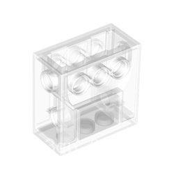 ❤️LEGO樂高科技配件 零件 6588 2x4x3 1/3齒輪箱 透明白色 全新