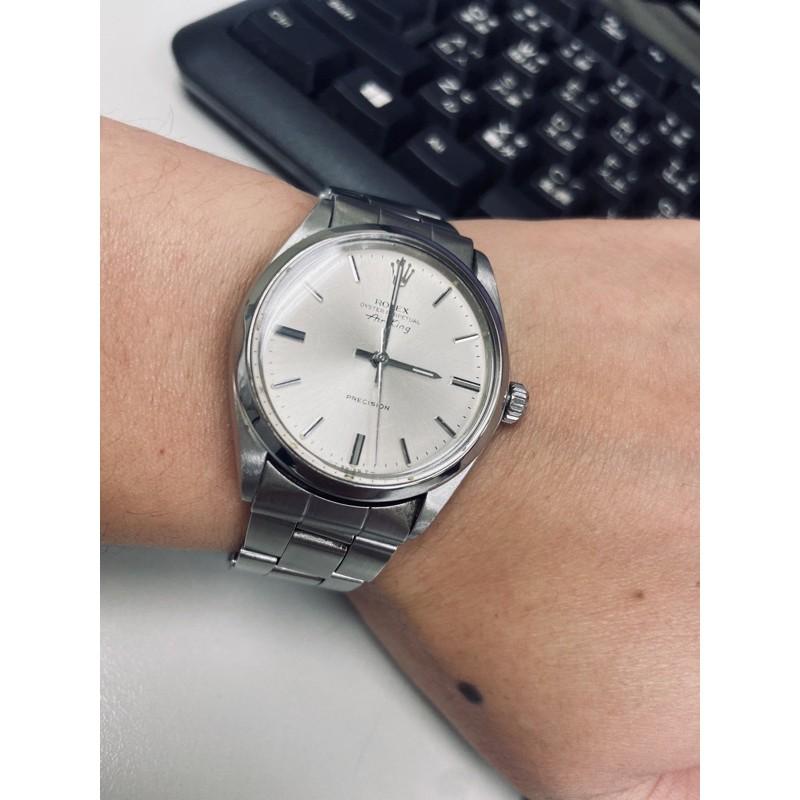現貨,絕版1970年Rolex AirKing 5500 自動上鏈機械錶,古董錶。(含原廠勞力士錶盒)