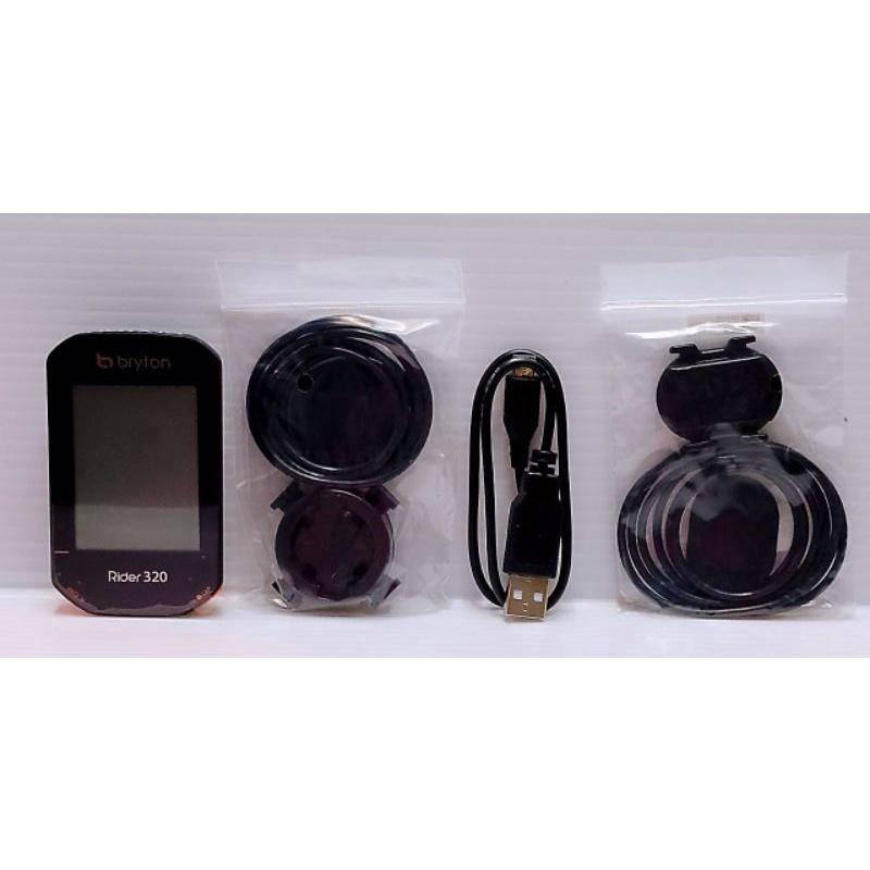 中古品 使用約1個月左右 Bryton Rider 320C GPS中文碼錶 (主機+踏頻感應器)320 C 保固內碼錶