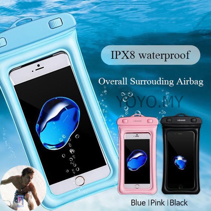浮球安全氣囊 Ipx8 防水幹袋保護套透明通用防水袋,  適用於 Iphone 11 Pro Max X 7 8 6 華為