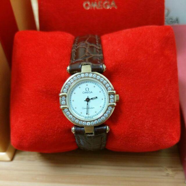 OMEGA Constellation 星座系列 18k金 原鑲女鑽錶