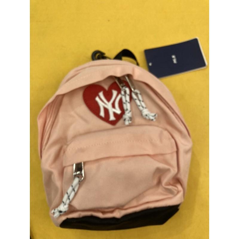 韓國MLB NY洋基 粉色小後背包