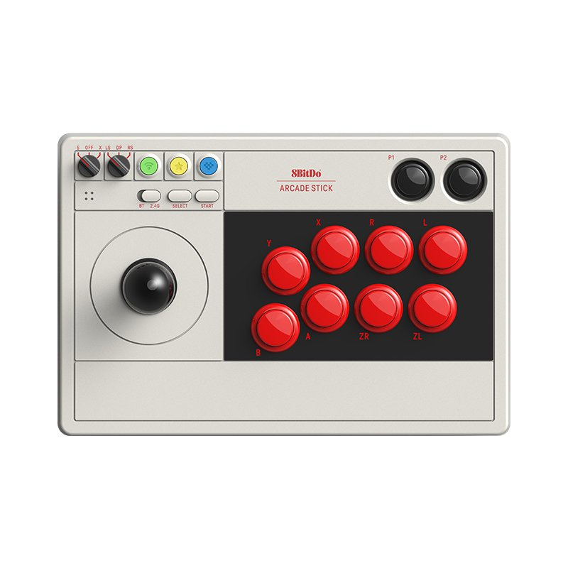 8BitDo街機搖桿V3標準版三和版 多模連接LED實時布局顯示格鬥 PC電腦任天堂NS Switch/Lite遊戲機