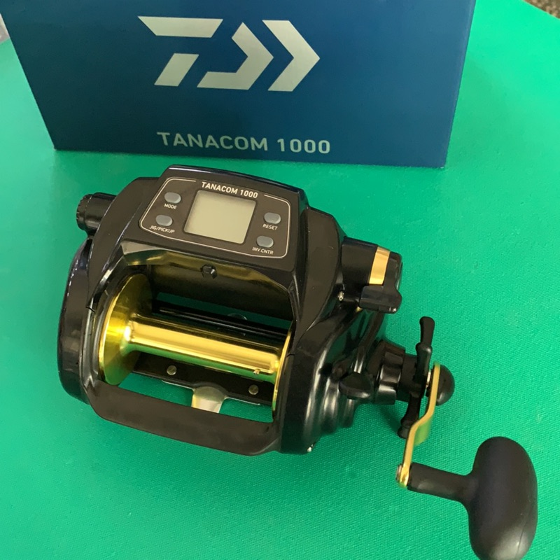 DAIWA台灣大和公司貨電動捲線器 TANACOM 1000 黑寶(含原廠保證書)