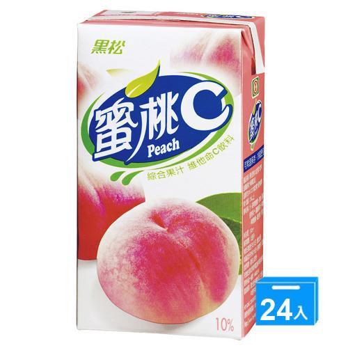 黑松蜜桃C300ml*24入/箱【愛買】