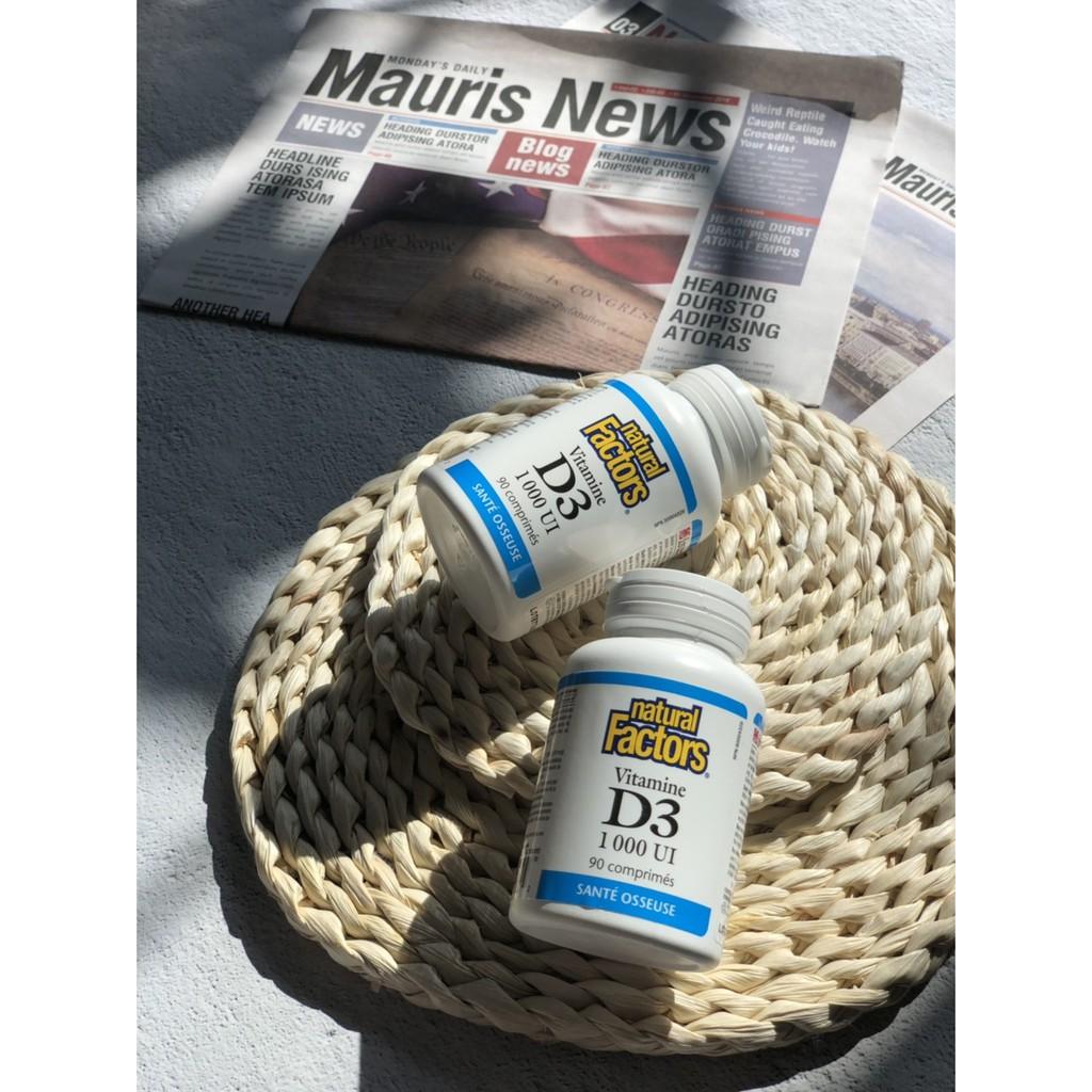 Natural Factors 加拿大大廠 維他命Vitamin D3 1000IU 90粒