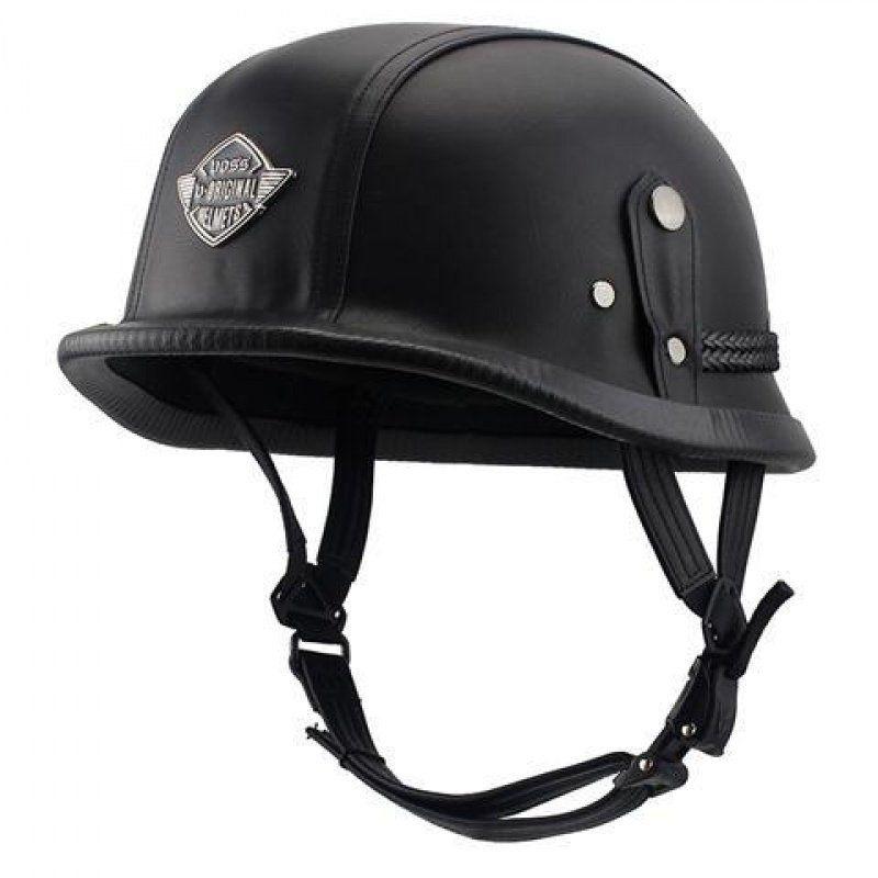 機車摩托車配件頭盔VOSS摩托車復古頭盔男女四季通用迷彩皮革盔機車個性酷安全帽夏季