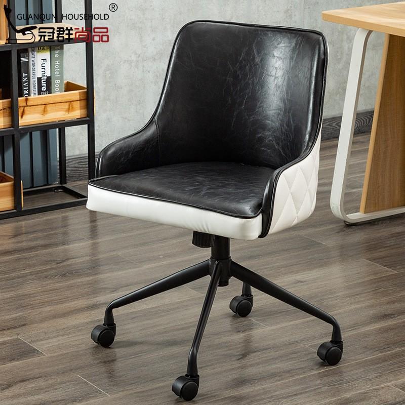 北歐家用辦公椅電腦椅人體工學時尚主播升降轉椅電競皮椅子弓形椅