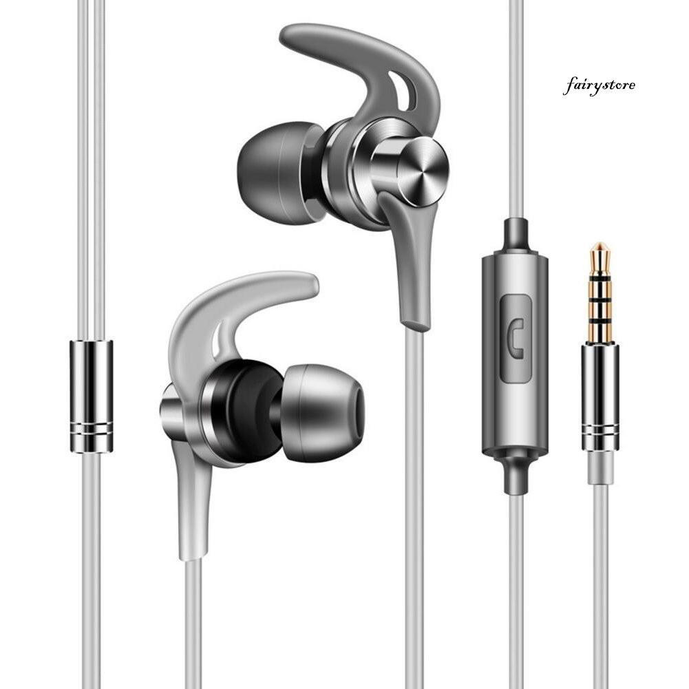 Fs + 高清立體聲降噪入耳式運動耳機音樂耳機帶麥克風