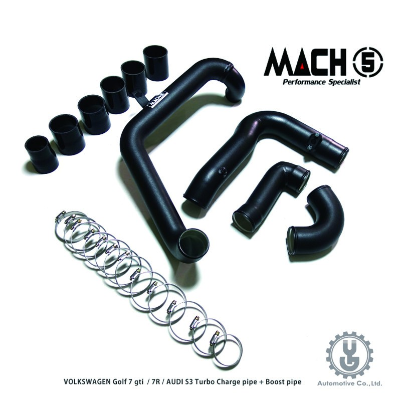 MACH5 高流量帶三元催化頭段 當派 排氣管 底盤系統 VOLKSWAGEN GOLF MK7 GTI 充電管【YG】